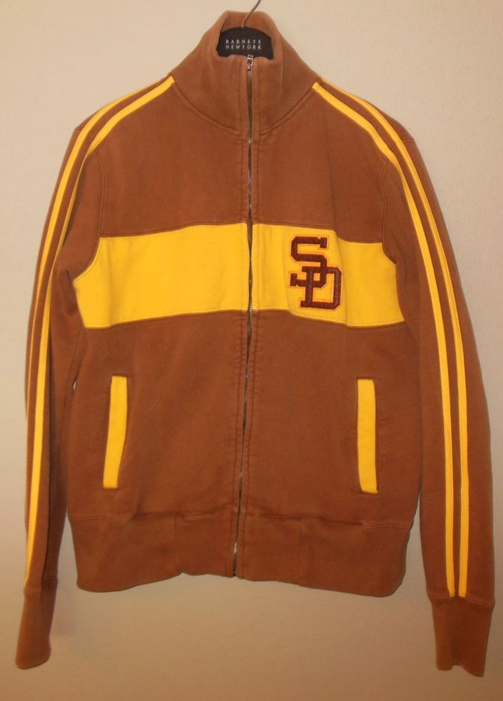 cheap for discount 2f3a0 24e61 San Diego Padres Moonlight Graham Brown Track Jacket ...