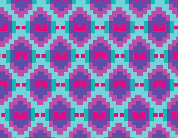 Women's Printed Leggings Aztec Leggings Purple by Uptightso