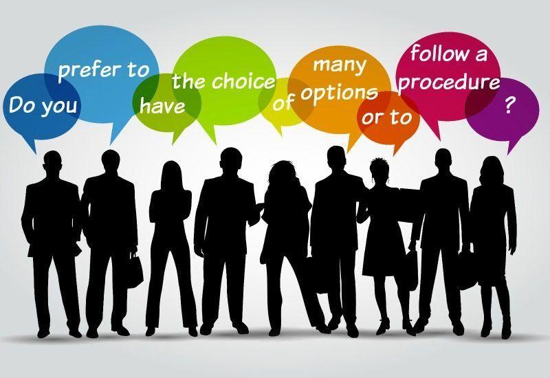 ABCs – Do You Like Options or Prefer Procedures?