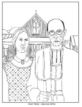 Coloring pages the scream american gothic beasts of for American gothic coloring page