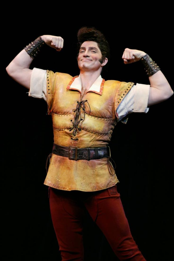 Image result for gaston beauty and the beast play