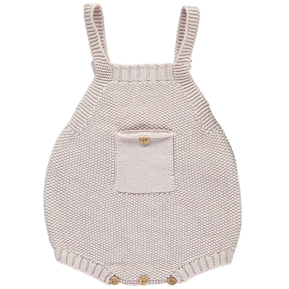 Baby pink dungaree dress  Soft pink knitted baby dungarees  little ones  Pinterest  Baby