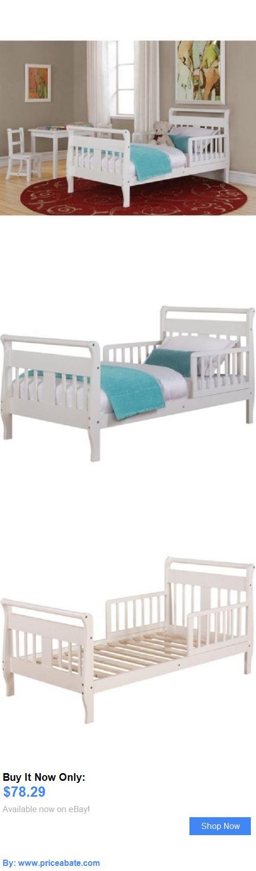 Kids Furniture: Toddler Bed Infant Baby Sleigh Furniture Kids Bedroom Hardwood White New BUY IT NOW ONLY: $78.29 #priceabateKidsFurniture OR #priceabate