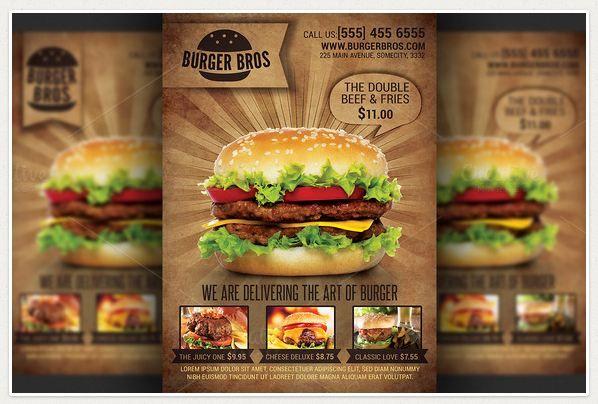 Burger Promotion Flyer Template  Flyer Design    Flyer