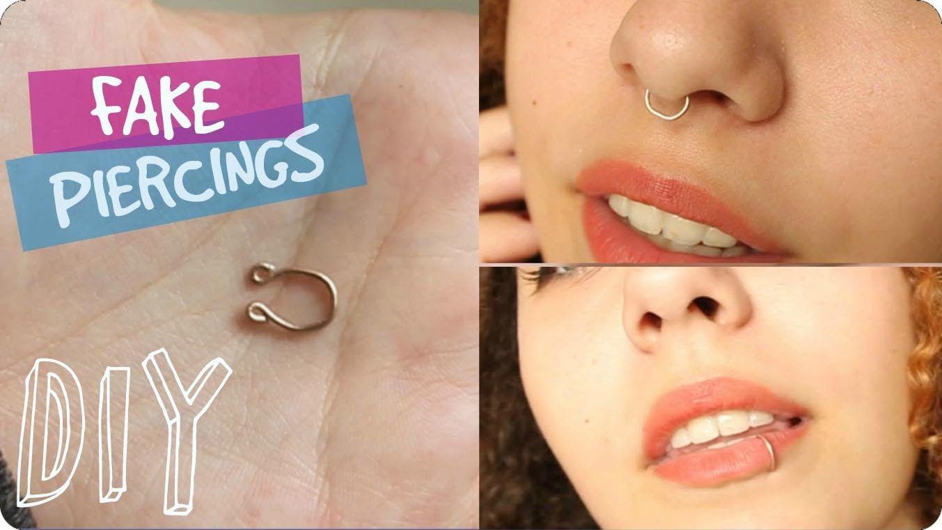 Diy Fake Nose Lip Septum Piercing Pypah S Art Fake Nose