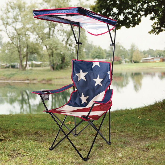 American Flag 225LBS CAPACITY Quick Shade Canopy Adjustable Folding C& Chair #QuikShade & Details about American Flag 225LBS CAPACITY Quick Shade Canopy ...