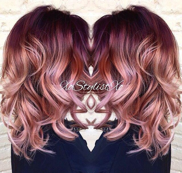 rose gold hair hair pinterest haar frisur und haarfarben. Black Bedroom Furniture Sets. Home Design Ideas