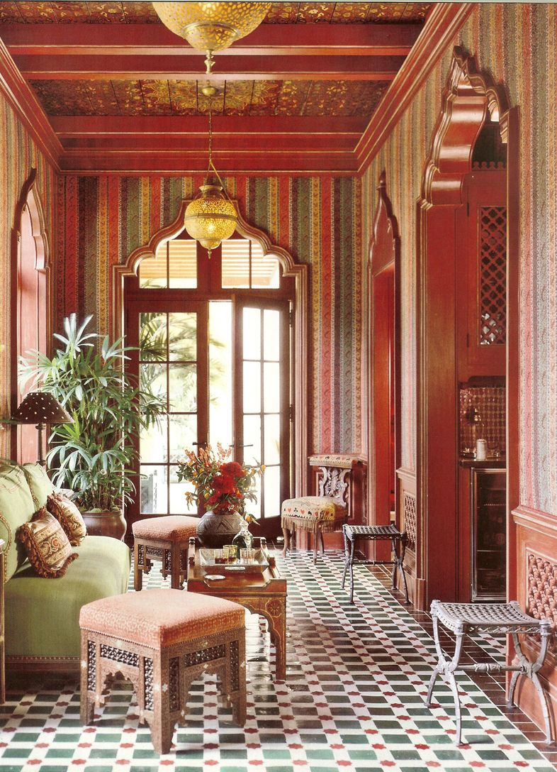 Awesome Sofas And Chairs Moroccan Living Room Idea With Mixed Wall Color  Nice Door Pattern Interior Design Styles Furniture And Accessories Great  Moroccan ...