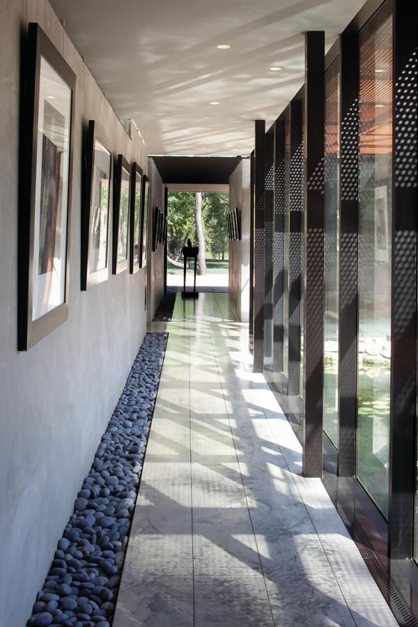 hallway stone inset