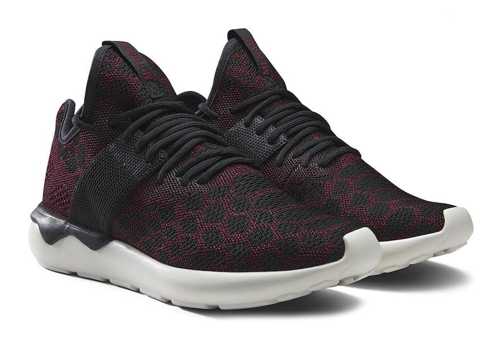 Adidas Tubular Burgundy On Feet