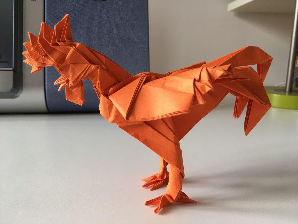Origami rooster satoshi kamiya by federicoariano may 2017 origami rooster satoshi kamiya by federicoariano jeuxipadfo Image collections