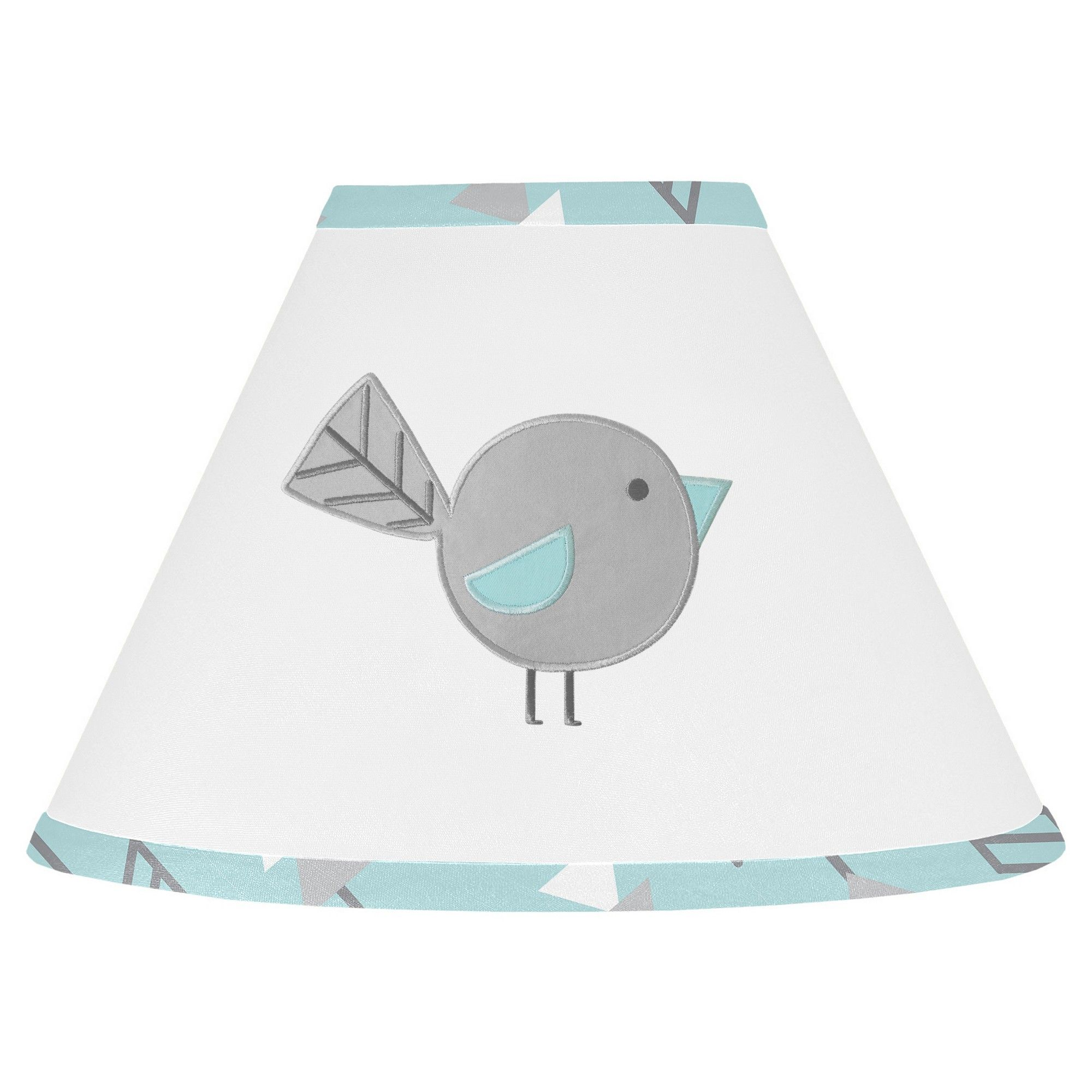 Sweet Jojo Designs Earth And Sky Lamp Shade  Turquoise