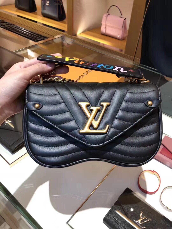 6a1079b5fd5a Louis Vuitton New Wave Chain Bag PM M51683 Black  louis vuitton m51683  louis  vuitton