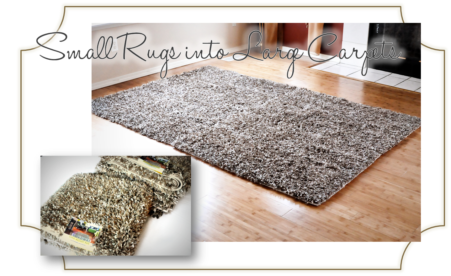 Finding My Aloha Diy How To Turn Accent Rugs Into Large Area