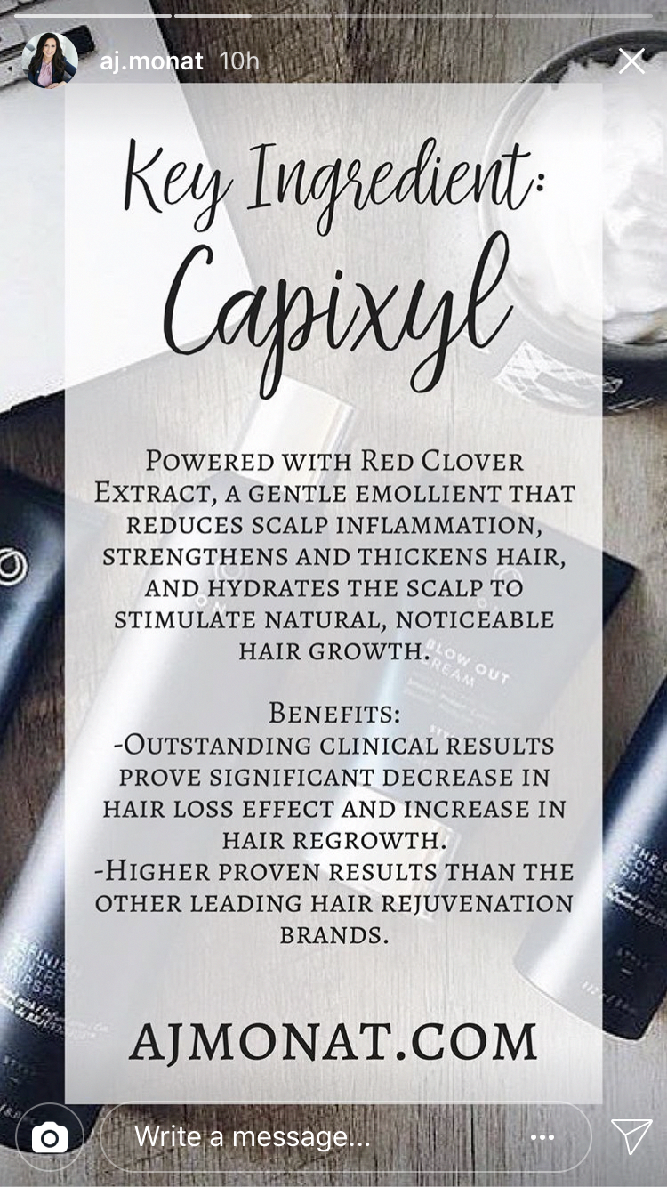 Monats top ingredient to help stimulate hair growth. Are