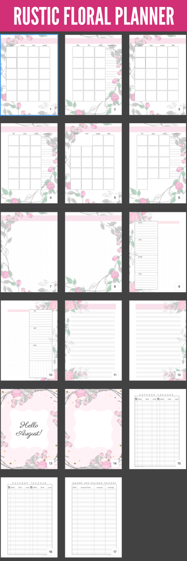 August Bullet Journal Layout Plus Free Printable #augustbulletjournal