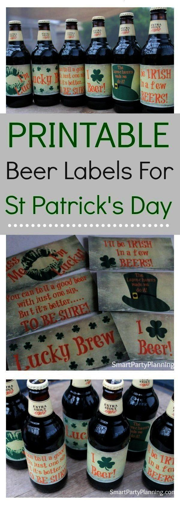 For St Patricks Day The perfect set of homebrew beer labels that you can use for your St Patricks day celebrations There is no need to wonder what you will put on your be...
