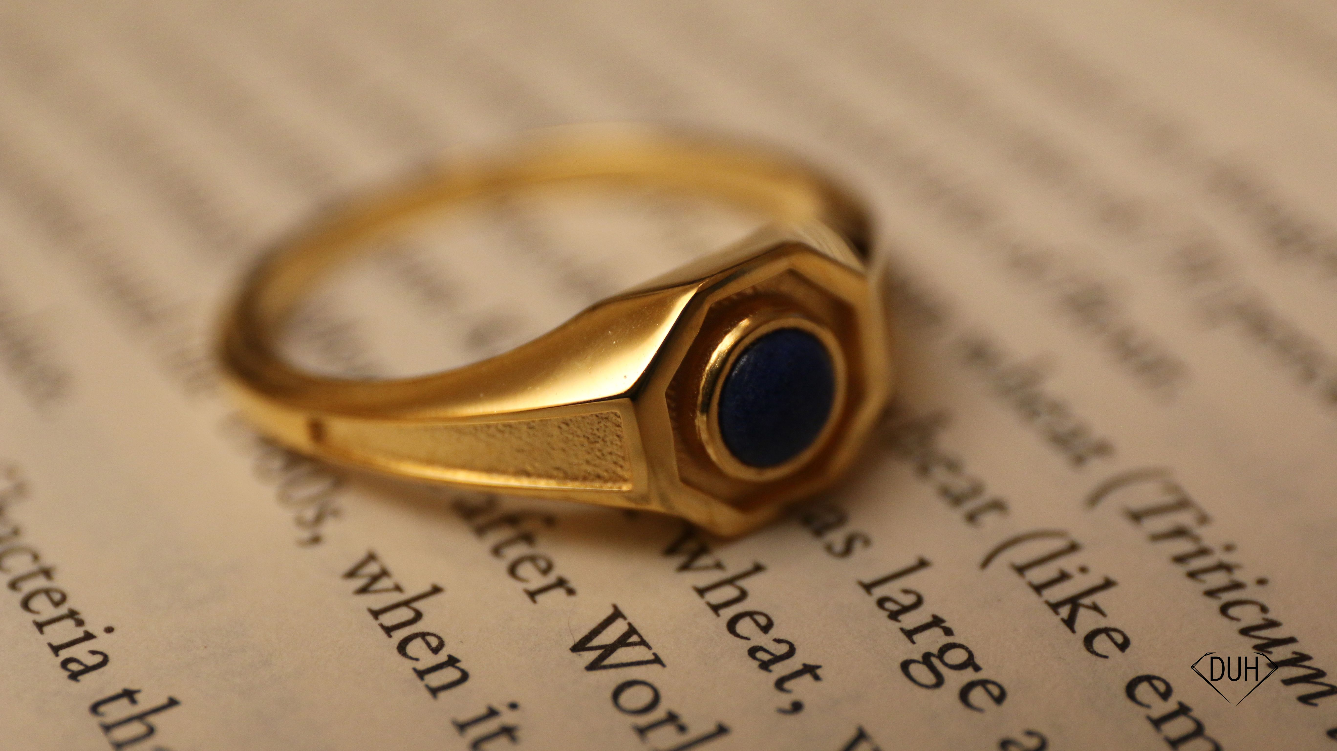cool lapiz lazuli 18k gold ring for men - great gift idea for him ...