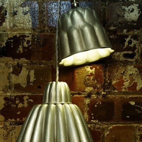 bakery pendants...I want these in my kitchen...on the hunt for vintage bundts!!