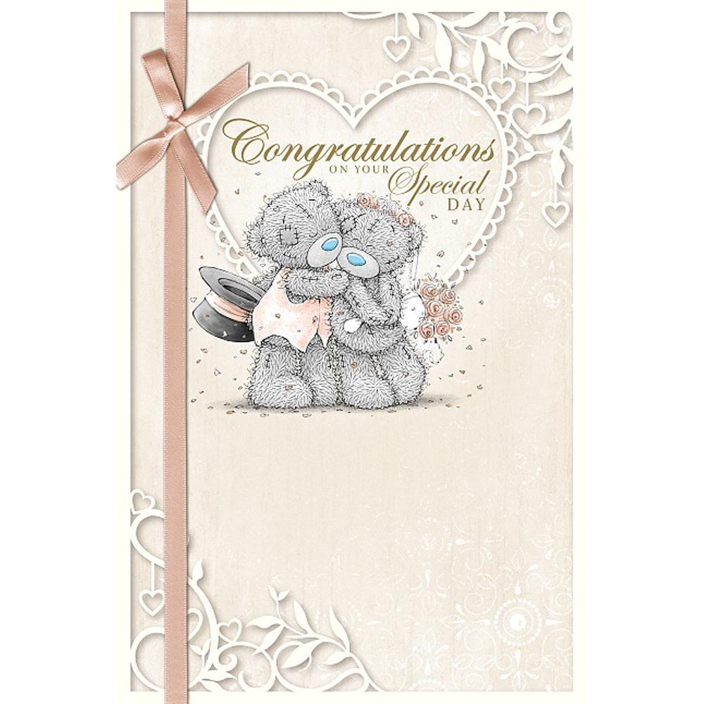 Congratulations Me to You Bear Wedding Card £2.49 | Tatty Teddy ...
