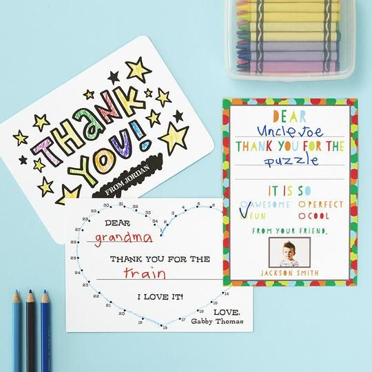 Kids Thank You Cards: Keep the tradition of thank you cards going by ...
