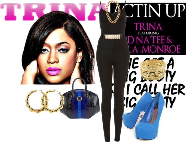 """Trina ""Actin Up"""" by veronicamccray ❤ liked on Polyvore"