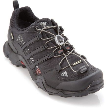 A vegan friendly hiking shoe from Adidas! The Terrex Swift R GTX Hiking shoe  is all synthetic and rugged enough to handle any trail you throw at it! 2da190ad9