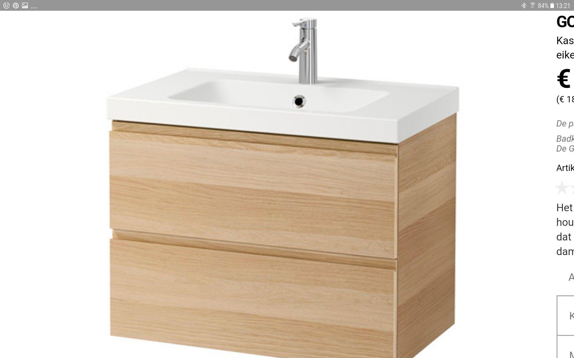 Wastafel Met Onderkast : Nieuwe wastafel met onderkast badkamer abt ludolf
