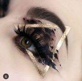 Golddreieck-Augen-Make-up #Make - up Artistico -  Golddreieck-Augen-Make-up #Make – up Artistico  - #artistico #augen #golddreieck #GolddreieckAugenMakeup #lipstickdesign #lipstickforfairskin #lipstickred