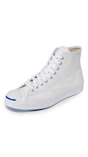 8c36de0eabf052 Converse Jack Purcell Leather Signature High Top Sneakers