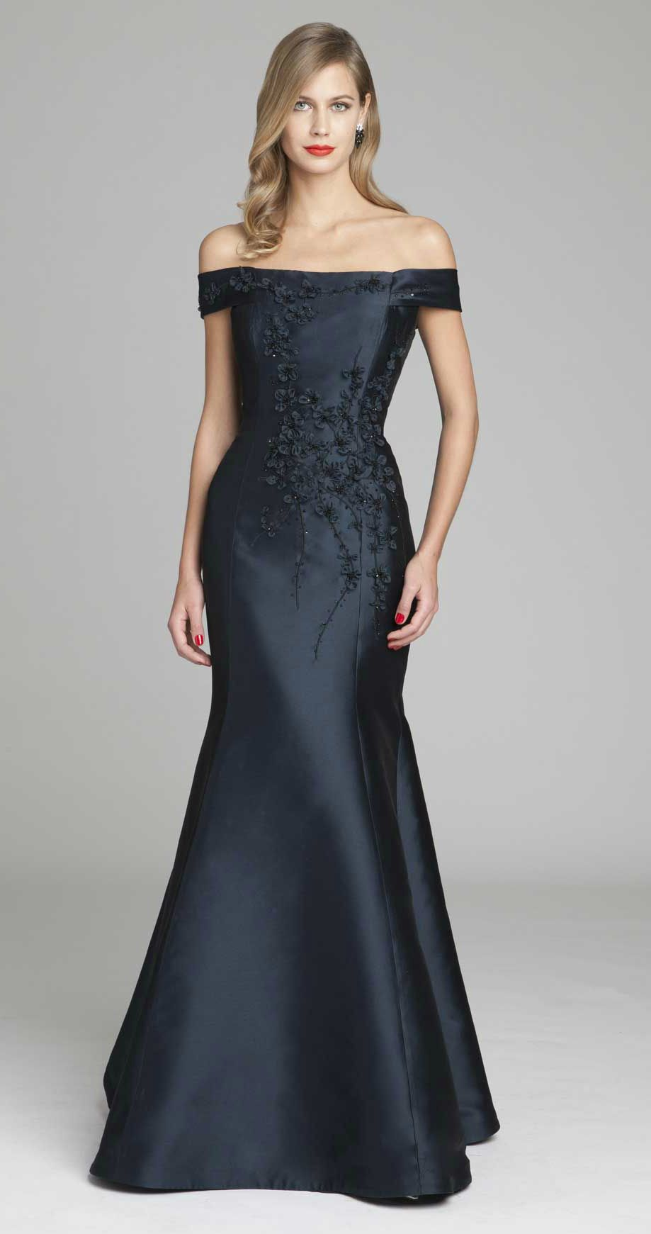 Dark blue mother of the bride dresses mother of groom