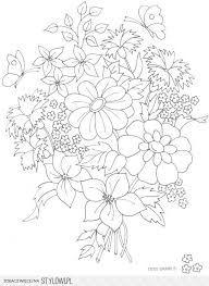 Kolorowanka Wazon Z Kwiatami Szukaj W Google Hand Embroidery Patterns Free Embroidery Flowers Pattern Embroidery Patterns Vintage