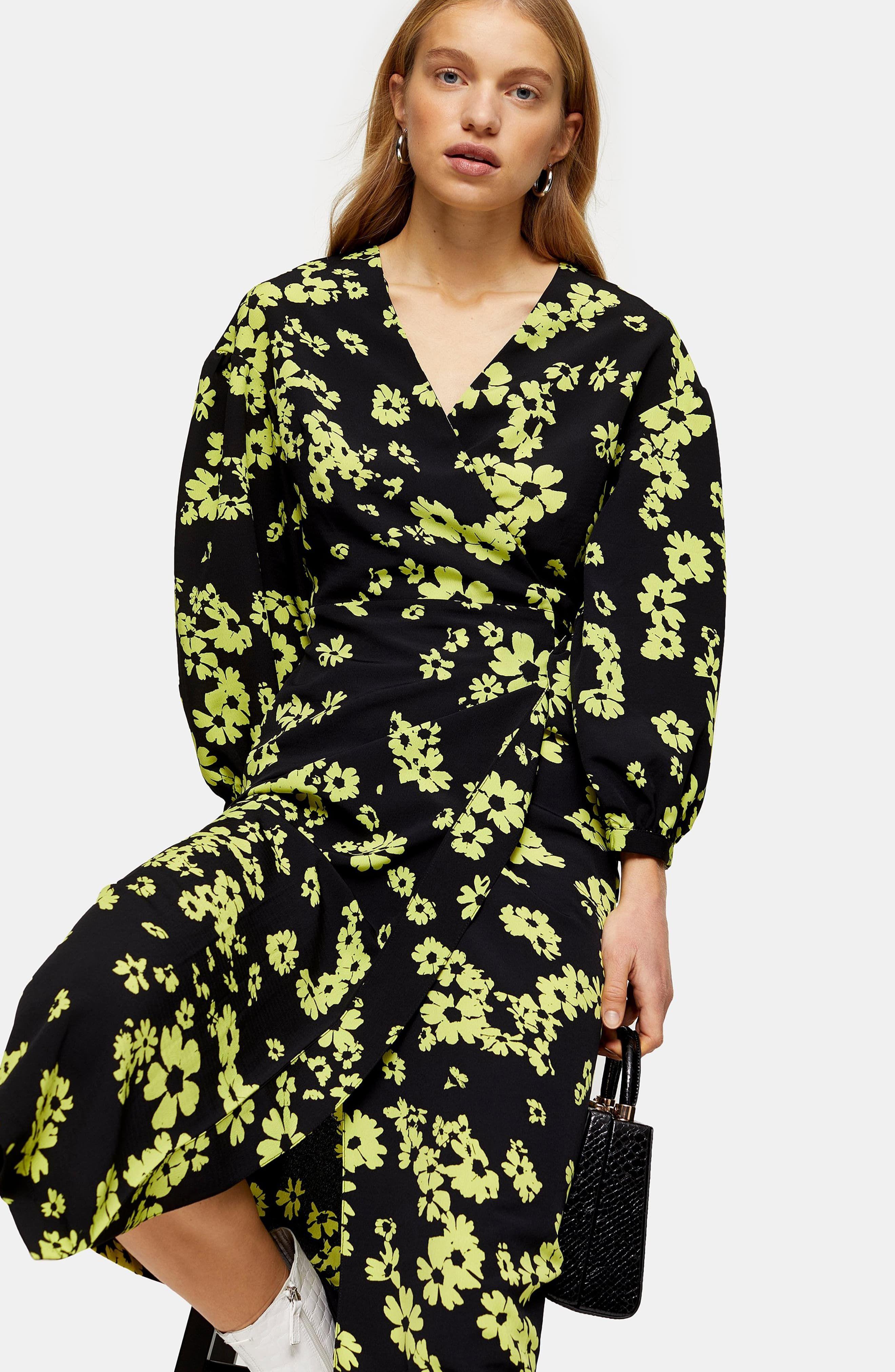 Women S Topshop Daisy Drama Wrap Midi Dress Size 12 Us Fits Like 14 Black In 2020 Long Sleeve Wrap Midi Dress Top Shop Dress Nordstrom Dresses [ 4048 x 2640 Pixel ]