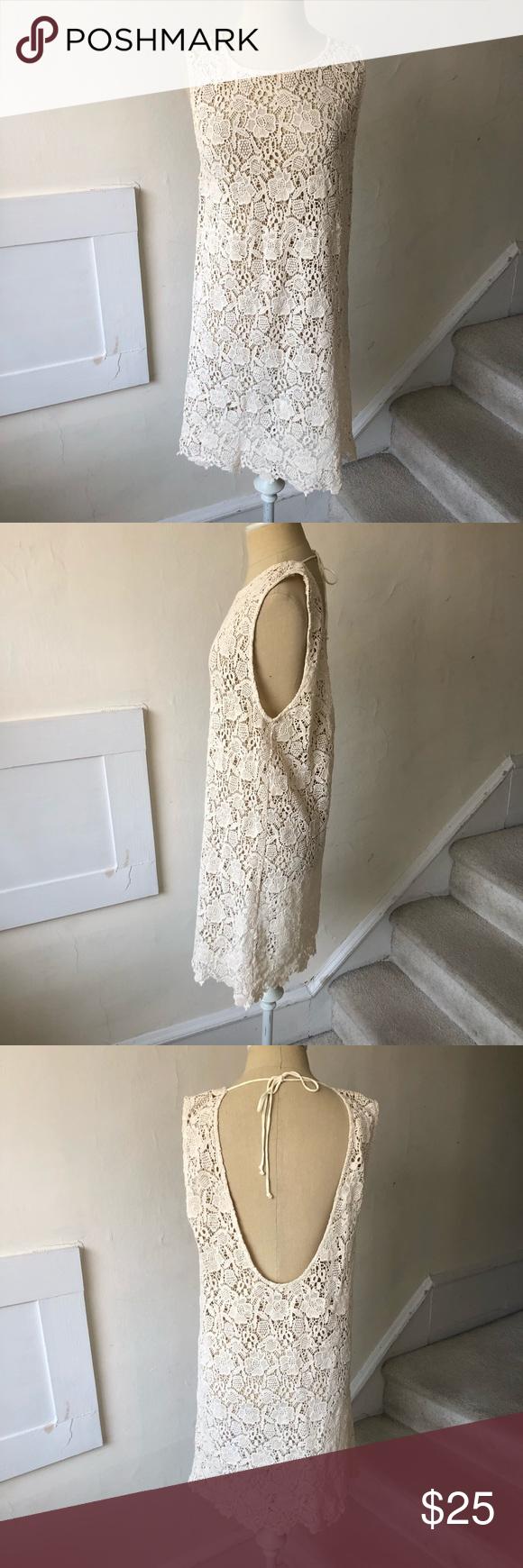 fbdc24acc911b Olivaceous Crochet Low Back Dress/Cover Up Cute crochet dress from  Olivaceous. Semi sheer