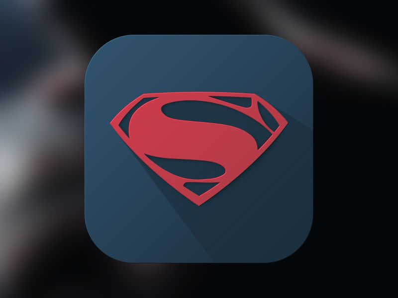 Man Of Steel Icon Icons Steel And Long Shadow