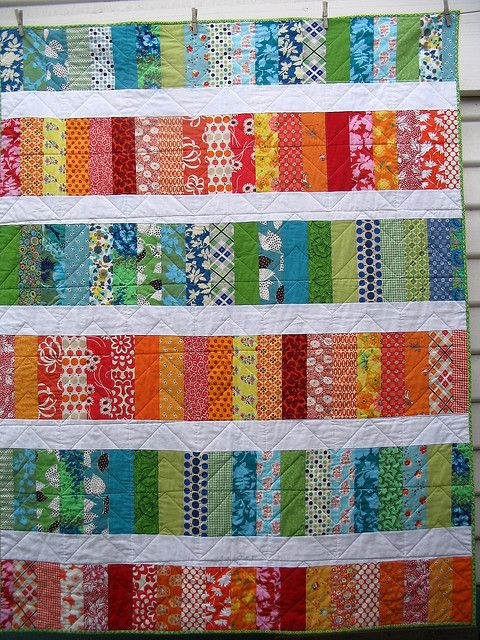 back of 'zig zag' by #Redpepperquilts