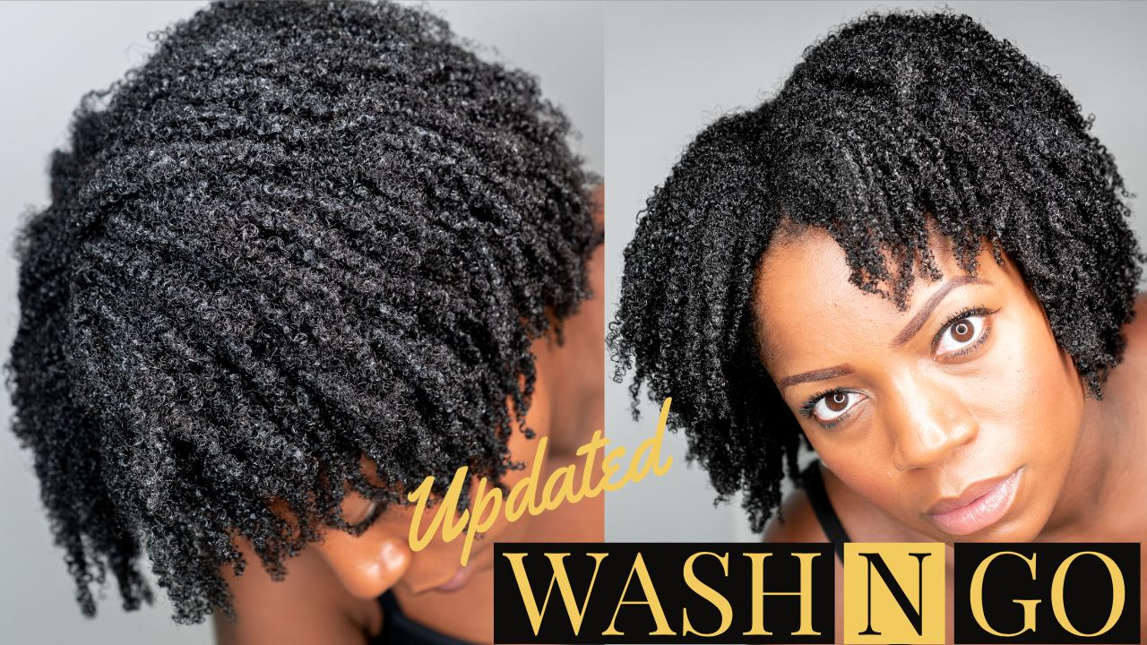 wash n go on short to medium length 4b/4c natural hair