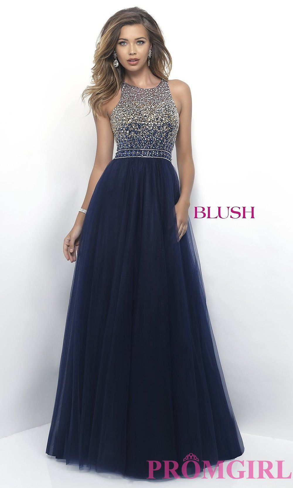 Blush A Line Prom Dress With Beaded Top In 2019 Prom Formal