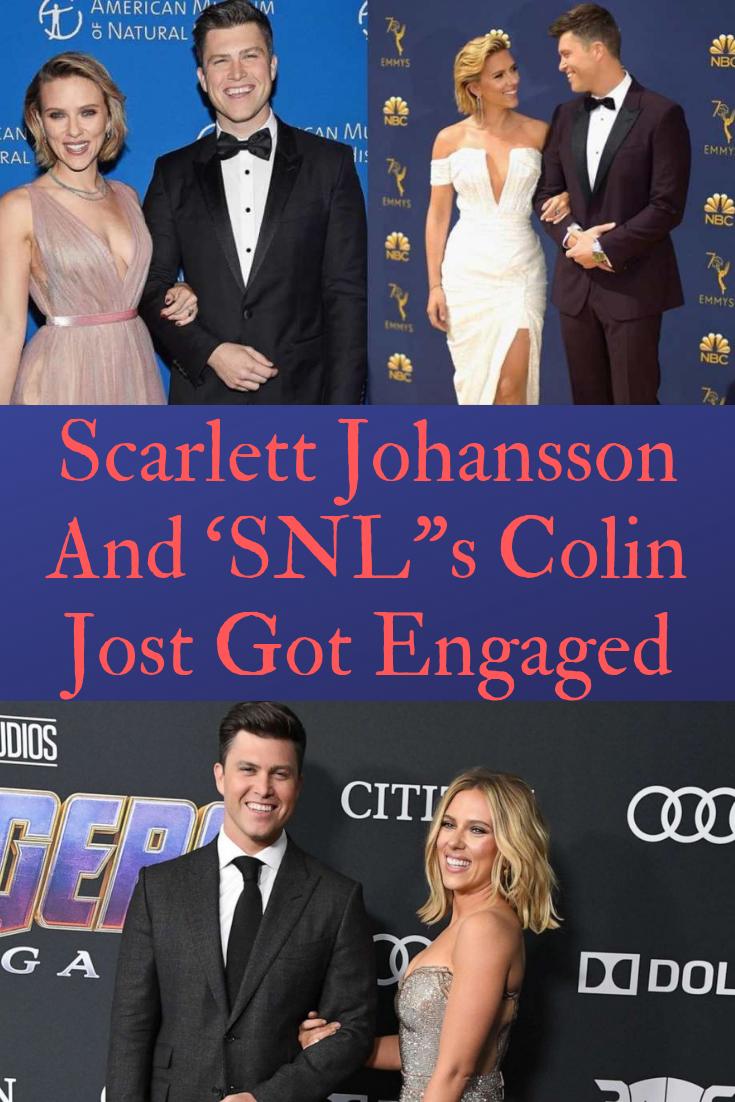 Scarlett Johansson And Snl S Colin Jost Got Engaged Scarlett Johansson Scarlett Celebrities