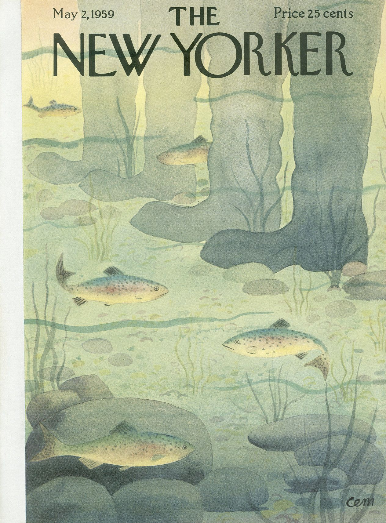 The New Yorker - Saturday, May 2, 1959 - Issue # 1785 - Vol. 35 - N° 11 - Cover by : Charles E. Martin