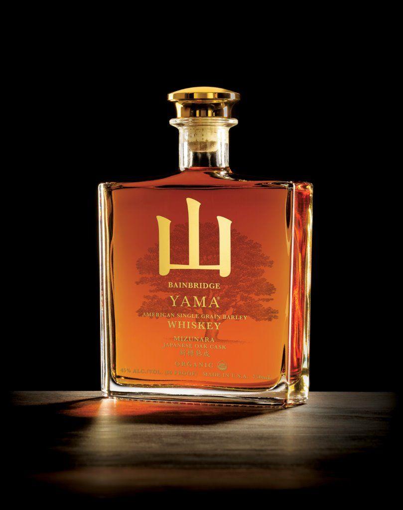 This Limited Release Bainbridge Yama American Single Grain Barley Mizunara Japanese Oak Cask Was Named The 2016 Whiskey Bottle Label Design Japanese Whisky