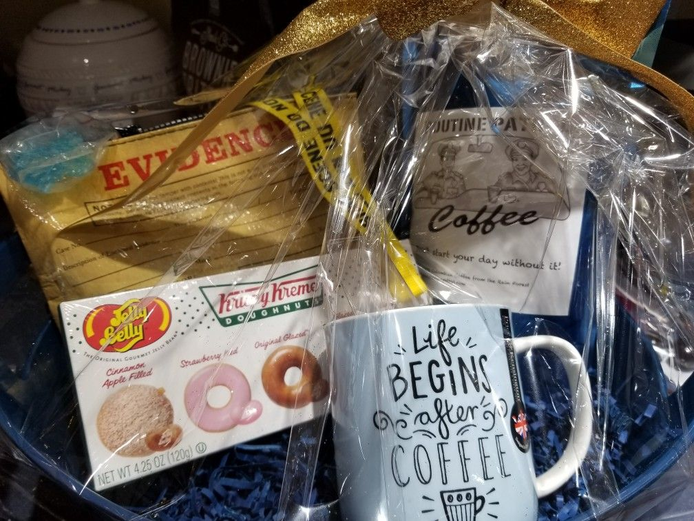 Police themed gift basket Themed gift baskets, Fire