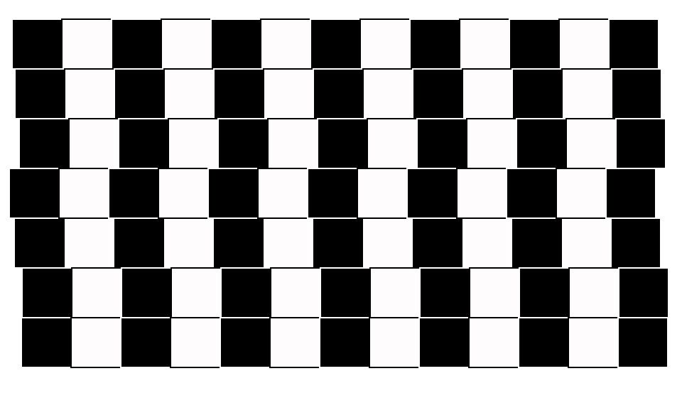 There are no crooked lines here. They're all parallel.