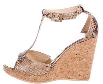 9e651709a00 Jimmy Choo Snakeskin Wedge Sandals