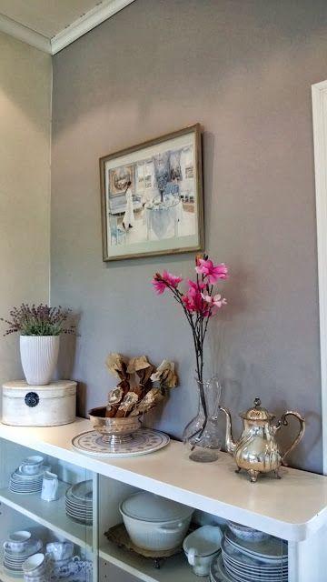 Kitchen wall painted with Sadolin Nepal Syvä | ideas& tips | Pinterest