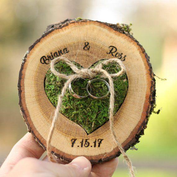 Ehering Box Alternative & Wand DISPLAY Träger Display Land Hochzeit Vorschlag Ring Ringhalter Wald Halter Ringkissen Hochzeit #personalizedwedding