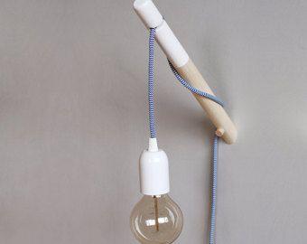 Tuffato lampada da parete in legno puk lampada minimalista con