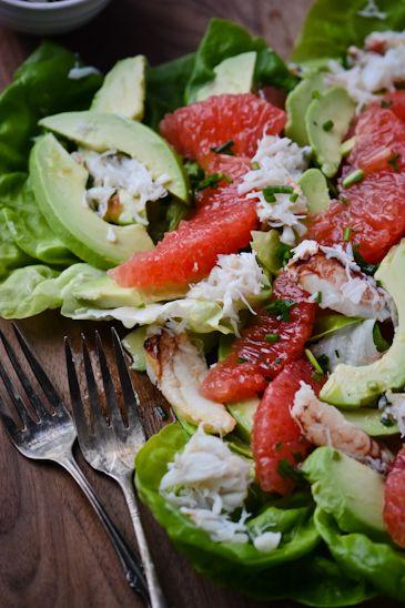 blissful eats with tina jeffers: Grapefruit, Avocado & Crab Salad