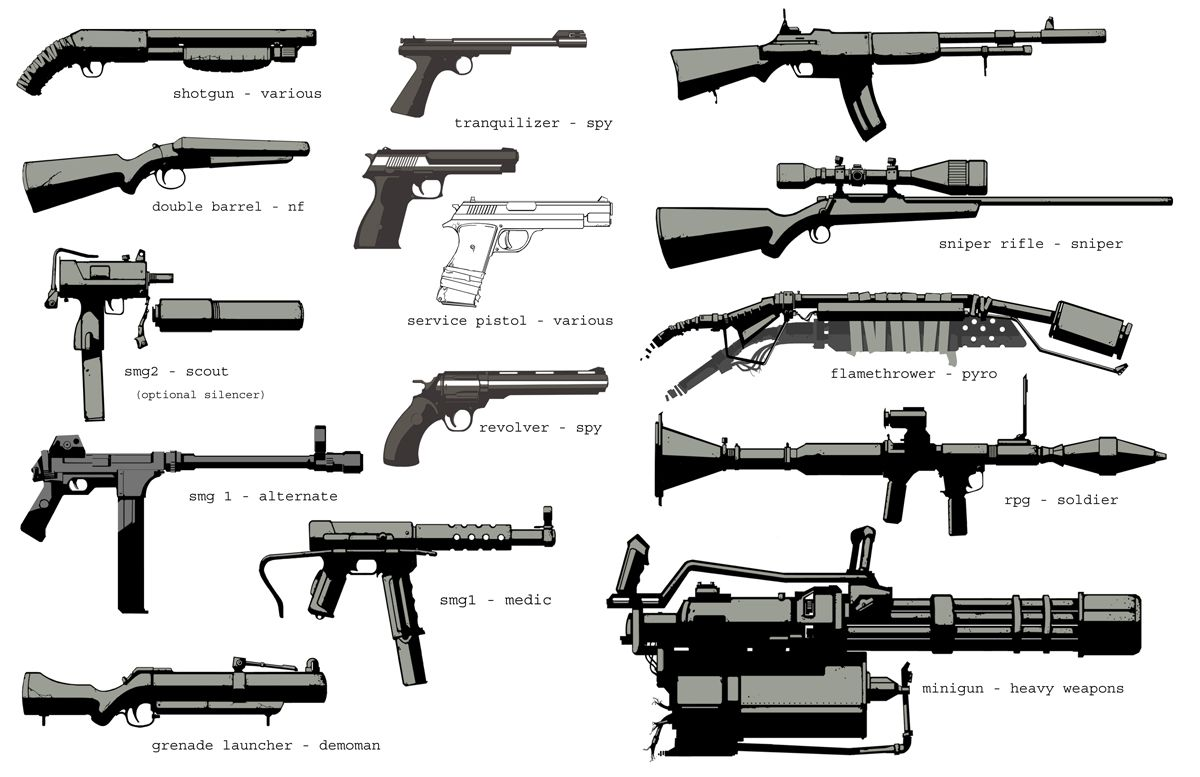 Team Fortress Team Fortress 2 Weapon Concept Art