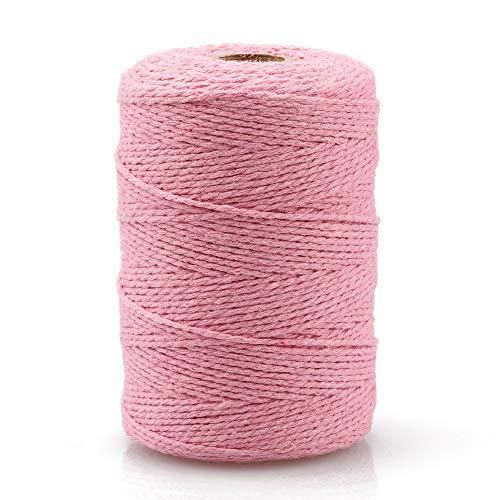 Photo of Cotton Twine String,Cooking Kitchen Twine String Craft String Baker Twine for Tying Homemade Meat,Making Sausage,DIY Craft and Gardening Applications – 1 Pcs / Pink